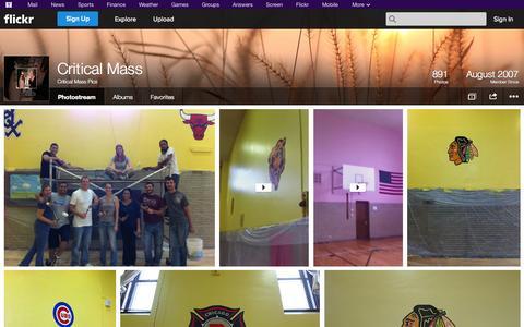 Screenshot of Flickr Page flickr.com - Flickr: Critical Mass Pics' Photostream - captured Oct. 27, 2014