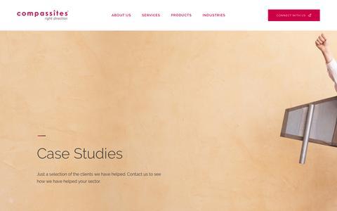 Screenshot of Case Studies Page compassitesinc.com - Case Studies – Compassites - captured Dec. 5, 2018