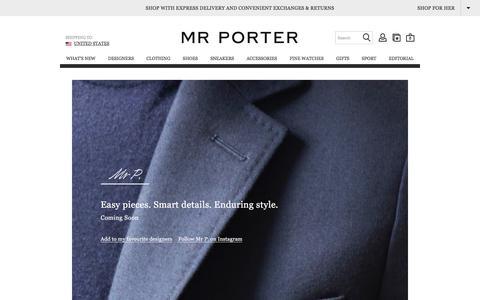 MRP by MR PORTER – Men's Designer Fashion Brand