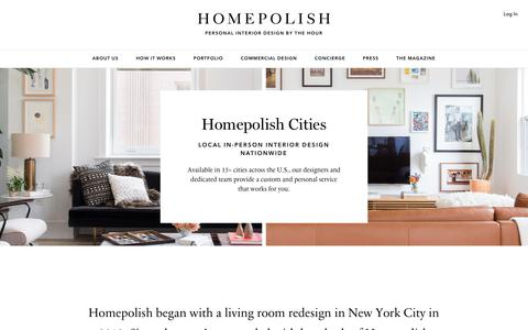 Screenshot of Locations Page homepolish.com - Our Cities - Homepolish - captured June 29, 2017