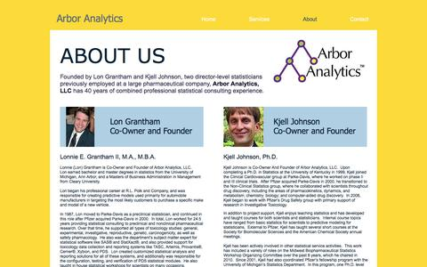 Screenshot of About Page arboranalytics.com - Arbor Analytics About - captured Nov. 21, 2016