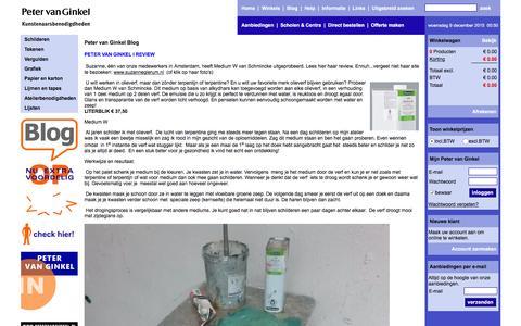 Screenshot of Blog petervanginkel.nl - Peter van Ginkel Blog | Peter van Ginkel - captured Dec. 8, 2015