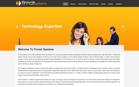 Screenshot of Home Page finnairsystems.com - Finnair Systems - Software Development Chennai | Contact:044-32532255 - captured Sept. 30, 2014