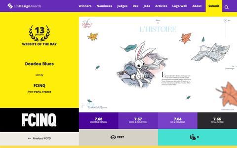 Screenshot of Home Page cssdesignawards.com - CSS Design Awards - Website Awards & Inspiration - CSS Gallery - CSSDA - captured Jan. 13, 2016