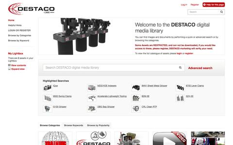 DESTACO digital media library | Home Page