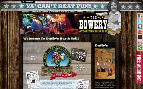 Screenshot of Menu Page thebowery.com - Our Appetizers | Duffys Bar and Grill Menu | Myrtle Beach Bar - captured Sept. 30, 2014