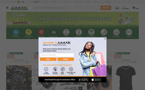 Screenshot of Support Page jumia.com.ng - Deals of the Day: Clearance Sales, up to 50% off | Jumia Nigeria - captured April 17, 2019