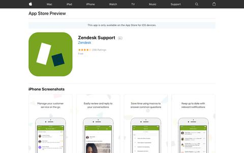 Zendesk Support on the AppStore