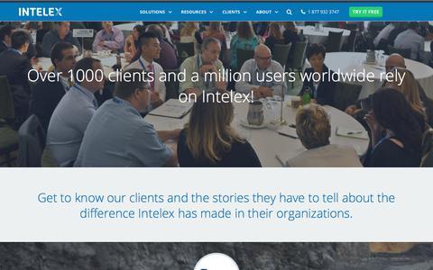 Screenshot of Case Studies Page intelex.com - De Beers, - captured Feb. 1, 2018