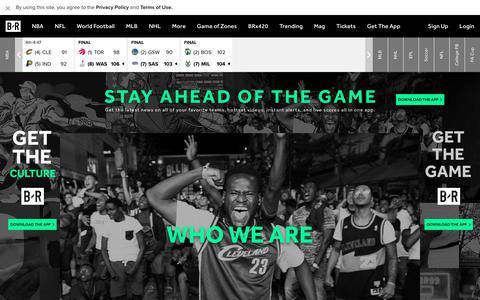 Screenshot of About Page bleacherreport.com - About Us | Bleacher Report - captured April 23, 2018