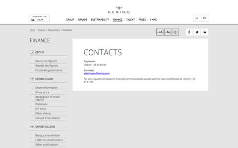 Contacts   Kering