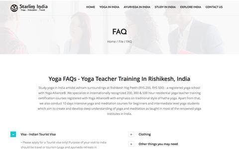 Yoga FAQs - Starlim India, Rishikesh