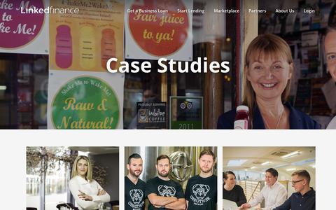 Screenshot of Case Studies Page linkedfinance.com - Case Studies – Linked Finance - captured Nov. 21, 2019