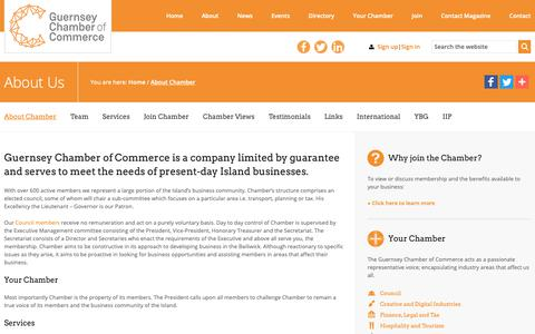 Screenshot of About Page guernseychamber.com - About Chamber   Guernsey Chamber of Commerce - captured Sept. 30, 2018