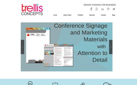Screenshot of Home Page trellisconcepts.com - Trellis Concepts Creative Agency Mississauga - captured Nov. 14, 2017