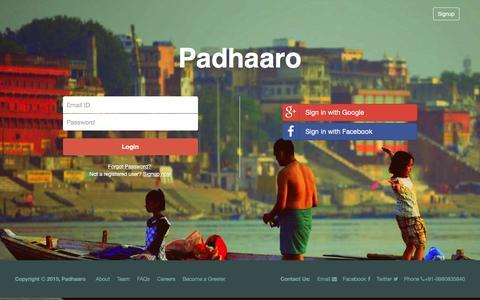 Screenshot of Login Page padhaaro.com - Padhaaro | Login - captured Jan. 24, 2016