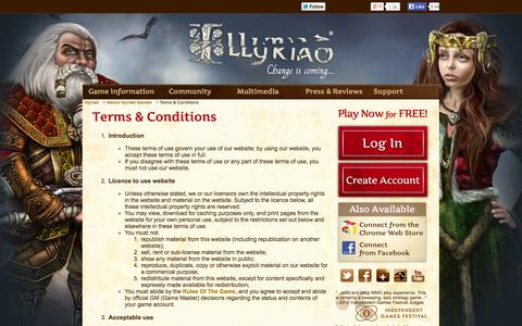 Screenshot of Terms Page illyriad.co.uk - Terms & Conditions - captured Sept. 24, 2014