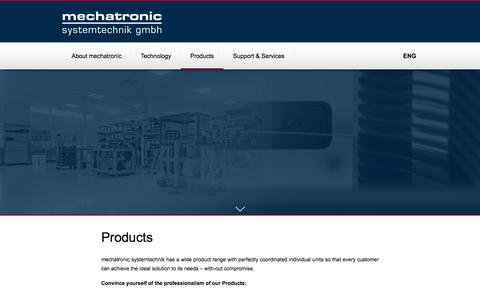 Screenshot of Products Page mechatronic.at - Products - Mechatronic Systemtechnik GmbH - captured Nov. 1, 2017