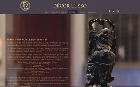 Screenshot of Services Page decorlusso.co.uk - Interior Design, Home Interiors - captured March 28, 2017
