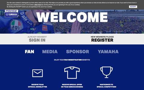 Screenshot of Signup Page yamahamotogp.com - Movistar Yamaha MotoGP | Sign up - captured Feb. 4, 2016