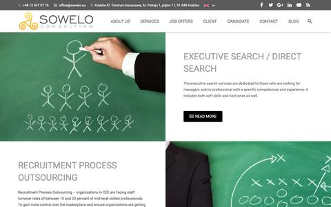 Screenshot of Services Page sowelo.eu - Services - Sowelo Consulting - captured Oct. 20, 2018