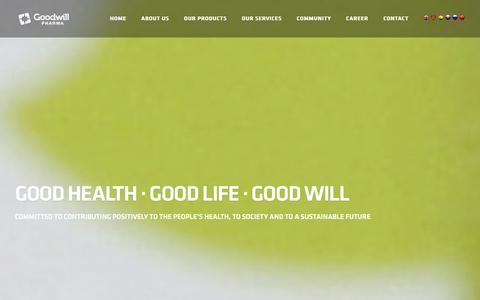 Screenshot of Products Page goodwillpharma.com - Goodwill Pharma - captured Jan. 31, 2016