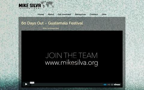 Screenshot of Blog mikesilva.org - Blog «  Mike Silva International - captured Oct. 7, 2014