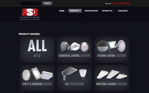 Screenshot of Products Page asdlighting.com - Products  |  ASD Lighting PLC - captured Oct. 4, 2014