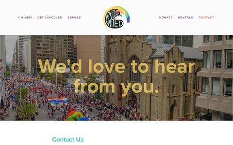 Screenshot of Contact Page kxcalgary.com - We'd love to hear from you — Knox United Church Calgary - captured July 12, 2018