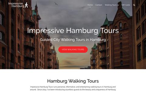 Screenshot of Home Page impressivehamburg.com - Impressive Hamburg Tours | Guided Walking City Tours in Hamburg, Germany - captured Oct. 11, 2018