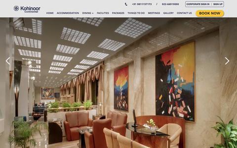 Screenshot of Site Map Page hotelkohinoorcontinental.com - Luxury Business Hotels in Andheri East, Mumbai India - Kohinoor Continental - captured July 22, 2018