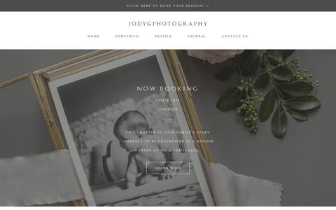 Screenshot of Pricing Page jodygphotography.com - preserving family memories - Family Photography - Serving Charlotte, Asheville, NC - captured Sept. 20, 2018