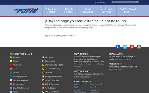 Screenshot of Press Page ridetherapid.org - Error Page - captured Sept. 21, 2015
