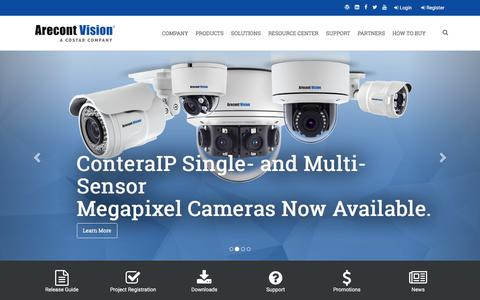 Screenshot of Home Page arecontvision.com - Arecont Vision Costar - captured July 14, 2019