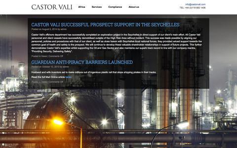 Screenshot of Press Page castorvali.com - News | Castor Vali - Global Risk Management | Castor Vali is a Global Risk Management company headquartered in the UK with regional offices in East and West Africa - captured Dec. 7, 2015