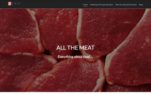 Screenshot of Home Page allthemeat.com - All The Meat - captured April 14, 2016