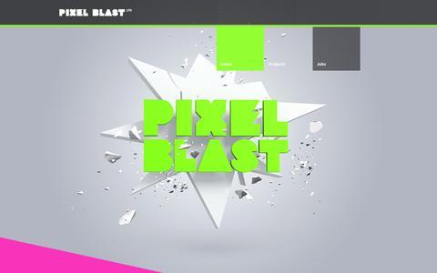 Screenshot of Home Page pixel-blast.com - Pixel Blast Ltd - captured Oct. 2, 2014