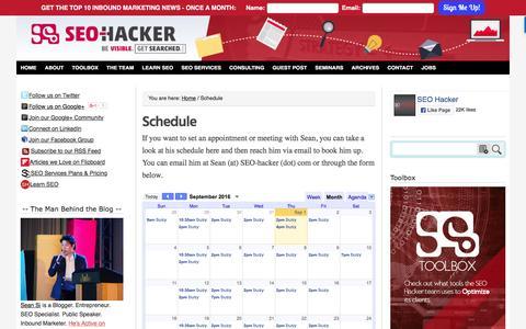 SEO Hacker Schedule