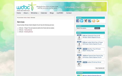 Screenshot of Services Page wdbc.org.au - Services - captured Oct. 26, 2014