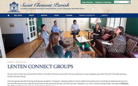 Screenshot of clement.org - Lenten Connect Groups   Saint Clement Parish - captured Jan. 20, 2017
