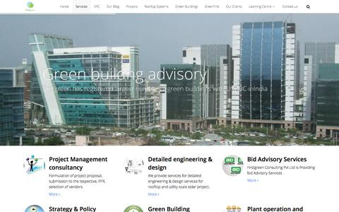 Screenshot of Services Page firstgreen.co - Services – First Green Consulting Pvt Ltd - captured Nov. 25, 2016