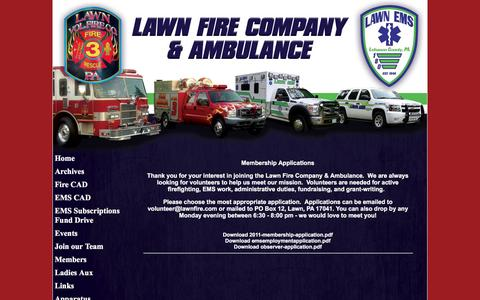 Screenshot of Team Page lawnfire.com - Lawn Fire & Ems - captured Nov. 1, 2016