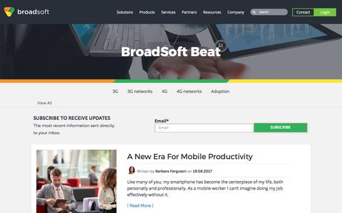 Screenshot of Blog broadsoft.com - BroadSoft Beat: Blog on Unified Communications, Collaboration and Contact Centers - captured Aug. 18, 2017