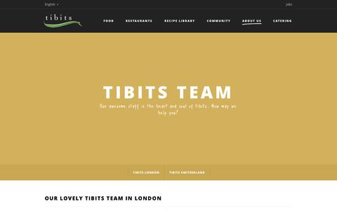 Screenshot of Team Page tibits.ch - Team - Tibits - Vegetarian Restaurant Bar Take Away Catering - captured Sept. 30, 2014