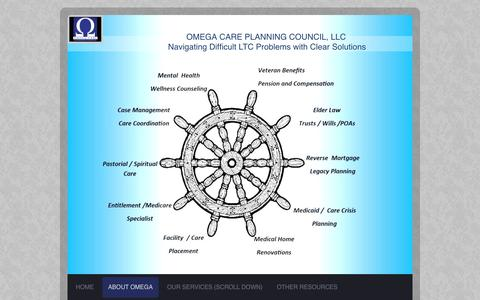 Screenshot of Testimonials Page omegaseniorcare.org - Omega Care Planning Council - Testimonials - captured Feb. 14, 2016