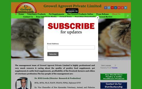 Screenshot of About Page growelagrovet.com - About Us – Growel Agrovet - captured Sept. 30, 2018
