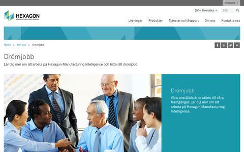 Screenshot of Jobs Page hexagonmi.com - Drömjobb | Hexagon Manufacturing Intelligence - captured Nov. 25, 2017