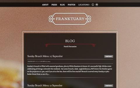 Screenshot of Blog franktuary.com - Blog | Franktuary - captured Sept. 30, 2014