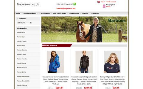 Screenshot of Home Page tradersown.co.uk - Cheap Women Coats, Jeans, Shirts, T-shirts, Hoodies, Sweatshirts, Discount Women Trainers, Boots, Flats, Heels, Women's Bags, Purses, Caps. - captured Nov. 13, 2017