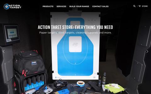 Screenshot of Home Page actiontarget.com - Shooting Range Design & Build, Range Targets, Range Supplies - captured Jan. 22, 2020
